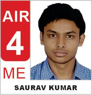 Saurav Kumar (ME) AIR-4 ESE 2019