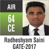 Gate Toppers-Rank 64 (CE)