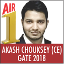 AKASH CHOUKSEY, GATE 2018, RANK 1