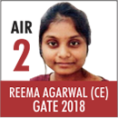 REEMA Agarwal, GATE 2018, RANK 2