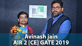 GATE 2019 CE Topper AIR 2 Avinash Jain