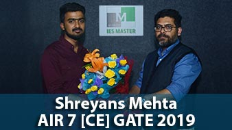 GATE 2019 CE Topper AIR 7 Shreyans Mehta