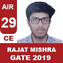 AIR-29-RAJAT-MISHRA-CE-GATE2019-Topper