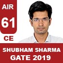 AIR-61-Shubham-Sharma-CE-GATE2019-Topper