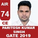AIR-74-PARITOSH-KUMAR-SINGH-CE-GATE2019-Topper