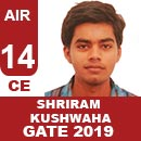 Gate 2019 Toppers-Rank 14(CE)