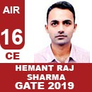 AIR16GATE-2019-Topper-Hemant-Raj-Sharma-(CE)-AIR16-IES-Mater