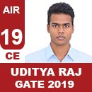 AIR19GATE-2019-Topper-Uditya-Raj-(CE)-AIR19-IES-Mater