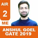 Ansul Goel, GATE 2019, RANK 2