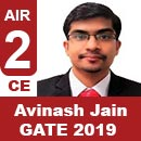Avinash-Jain, GATE 2019, RANK 2