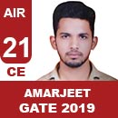 AIR21-GATE-2019-Topper-Amarjeet-Kumar-(CE)-AIR21-IES-Mater