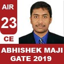 AIR23GATE-2019-Topper-ABHISHEK-MAJI-(CE)-AIR23-IES-Mater
