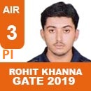 Rohit Khanna (PI), GATE 2018, RANK 3