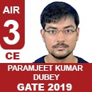 Paramjeet Kumar Dubey (CE), GATE 2018, RANK 3