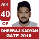 AIR40GATE-2019-Topper-DHEERAJ-KADYAN-(CE)-AIR40-IES-Mater