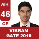 AIR46-GATE-2019-Topper-VIKRAM-SINGH-(CE)-AIR46-IES-Mater