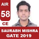 AIR58-GATE-2019-Topper-SAURABH-MISHRA-(CE)-AIR58-IES-Mater