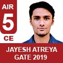 Jayesh Atreya (CE) GATE 2019, RANK 5