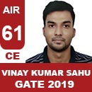 AIR61GATE-2019-Topper-Vinay-Kumar-Sahu-(CE)-AIR61-IES-Mater