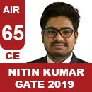 AIR65-GATE-2019-Topper-Nitin-Kumar-(CE)-AIR65-IES-Mater