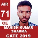 AIR71GATE-2019-Topper-MANISH-KUMAR-SHARMA-(CE)-AIR71-IES-Mater