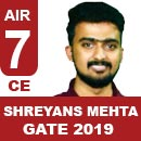 Shreyans-Mehta-(CE) GATE 2018, RANK 7