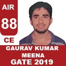 AIR88GATE-2019-Topper-Gaurav-Kumar-Meena-(CE)-AIR88-IES-Mater