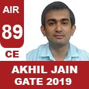 AIR89-GATE-2019-Topper-Akhil-Jain-(CE)-AIR89-IES-Mater
