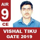 Vishal-Tiku-(CE) GATE 2019 Toppers-Rank 9(CE)