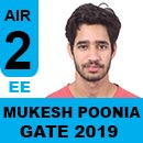 Mukesh-Poonia-(EE) GATE 2019, RANK 2