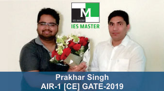 GATE 2019 CE Topper AIR 1 Prakhar Singh