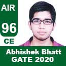 Abhishek-Bhatt-GATE-2020-Topper-AIR96-CE