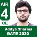 Aditya-Sharma-GATE-2020-Topper-AIR4-CE