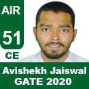 Avishekh-Jaiswal-GATE-2020-Topper-AIR51-CE