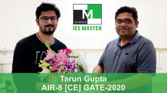 Tarun Gupta-GATE-2020-Topper-AIR8-CE