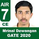 Mrinal-Dewangan-GATE-2020-Topper--AIR7-CE