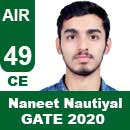 Naneet-Nautiyal-GATE-2020-Topper-AIR49-CE