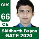 Siddharth-Bapna--GATE-2020-Topper-AIR66