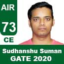 Sudhanshu-Suman-GATE-2020-Topper-AIR73-CE