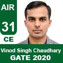 Vinod-Singh-Chaudhary---GATE-2020-Topper-AIR31-CE